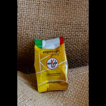 """CAFFE' ARABICA IN CAPSULE  """"GOLD"""" 100 pz."""